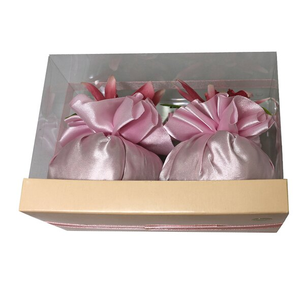 2 Piece Sachet Orchids Flower in Box Set by House of Hampton