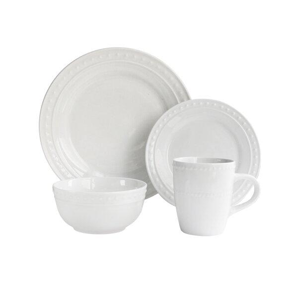 Monique 16 Piece Dinnerware Set, Service for 4 by Elle Decor