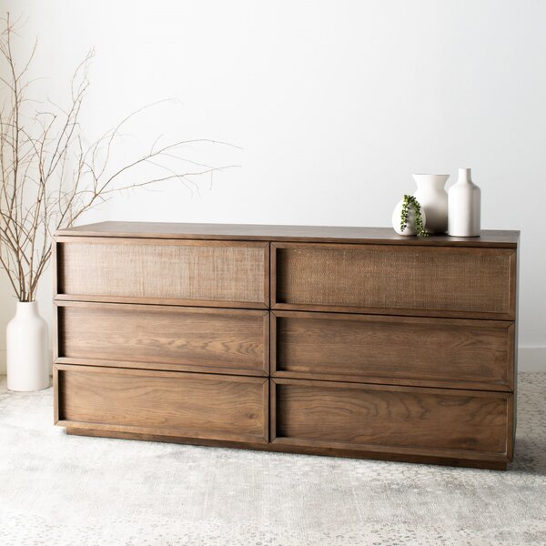 Imogen Wood 6 Drawer Double Dresser by Union Rustic