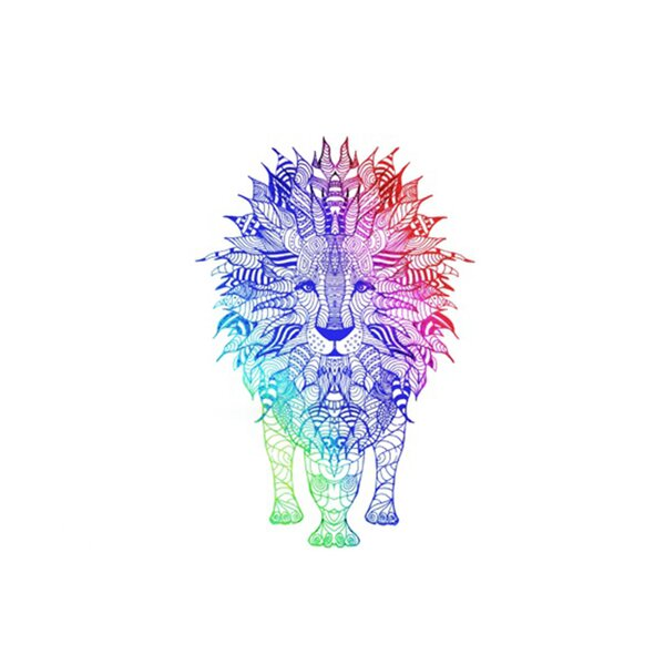 Rainbow Lion Placemat by KESS InHouse