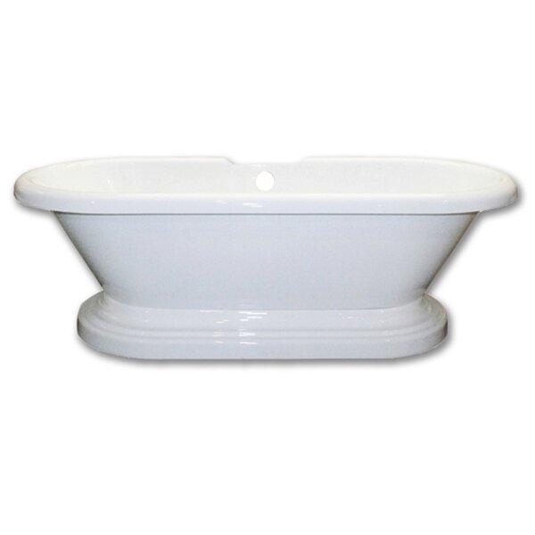 Acrylic 60 x 29 Freestanding Soaking Bathtub by Cambridge Plumbing