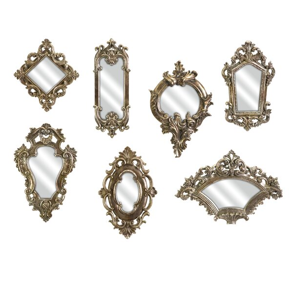 Lauria 7 Piece Victorian Inspired Mirror Set by Lark Manor
