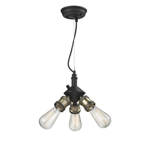 Bare Bulb 3-Light Mini Chandelier by Innovations Lighting