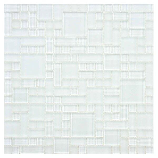 Sierra Random Sized Glass Mosaic Tile in Versailles Ice White by EliteTile