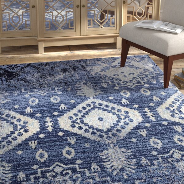 Carrasco Vintage Blue/Ivory Area Rug by Bungalow Rose