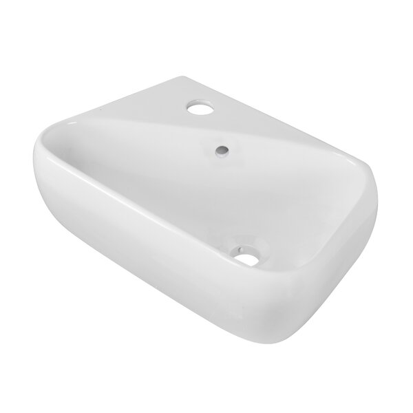Ceramic 18 Wall Mount Bathroom Sink with Overflow by Royal Purple Bath Kitchen