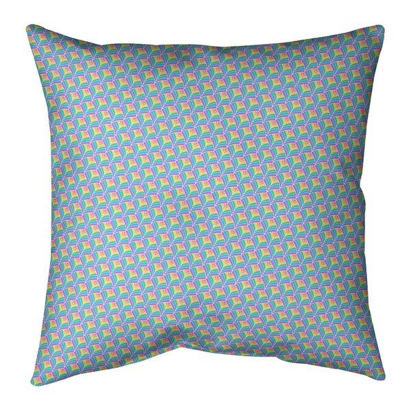 Kitterman Pastel Scales Indoor/Outdoor Throw Pillow