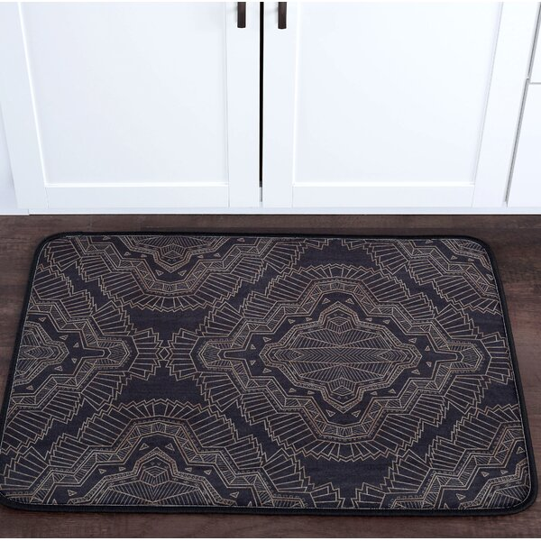 Faya Filigree Foam Core Bath Rug by Bungalow Rose