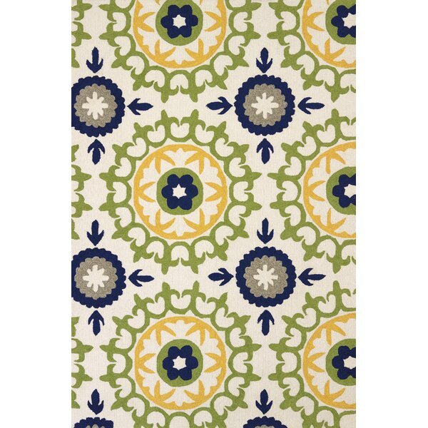Atrium Hand-Woven Green/Blue Indoor/Outdoor Area Rug by United Weavers of America