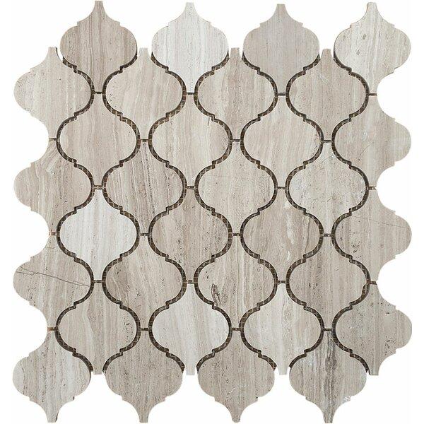Santa Maria Wood Grain Stone Mosaic Tile in Grey Polished by Parvatile