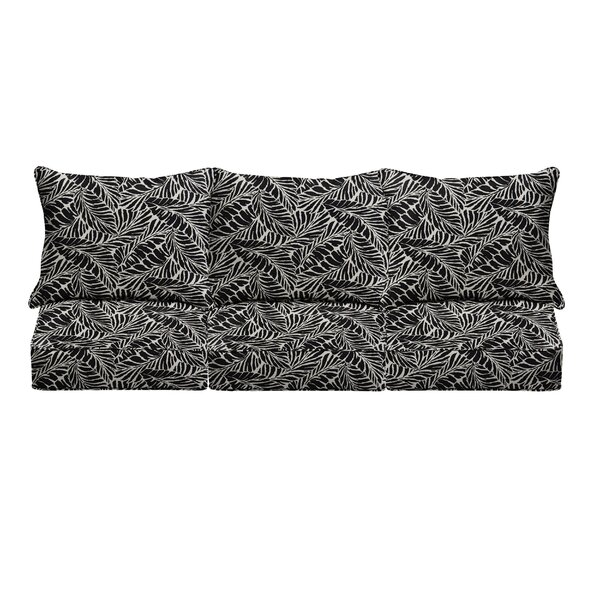 6 Piece Corded Indoor/Outdoor Sofa Cushion Set by Bayou Breeze Bayou Breeze
