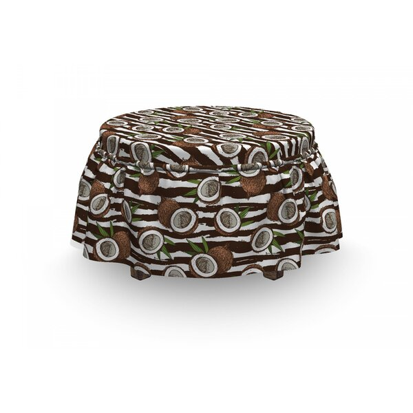 Exotic Coconut Jungle Ottoman Slipcover (Set Of 2) By East Urban Home