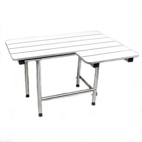 Folding Shower Seat and Grab Bar Set by CSI Bathware