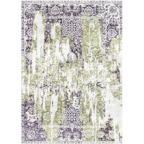Aliza Handloom Green/Purple Area Rug by Bungalow Rose