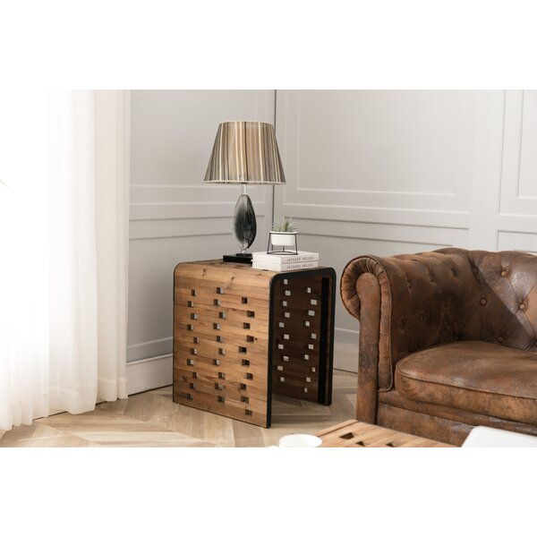 Claytor Solid Wood Sled End Table By Foundry Select