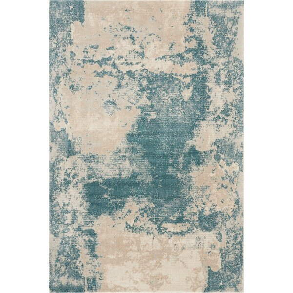 Mana Ivory/Teal Area Rug by Williston Forge