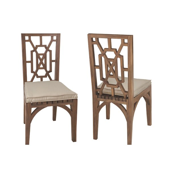 Altavista Teak Patio Dining Chair (Set of 2) by Gracie Oaks