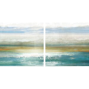 'Dawning' 2 Piece Painting Print on Wrapped Canvas Set by Beachcrest Home