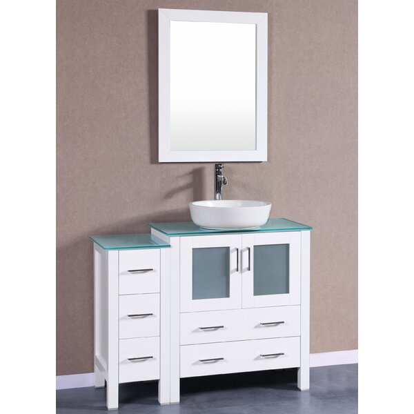Bruno 42 Single Bathroom Vanity Set with Mirror by Bosconi