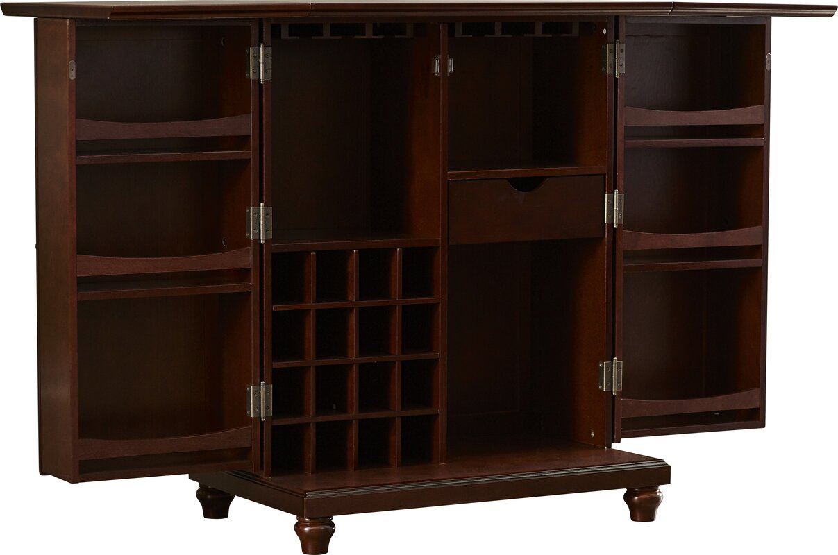 kitchen cabinet accesories goreville bar cabinet with wine storage amp reviews birch 2344