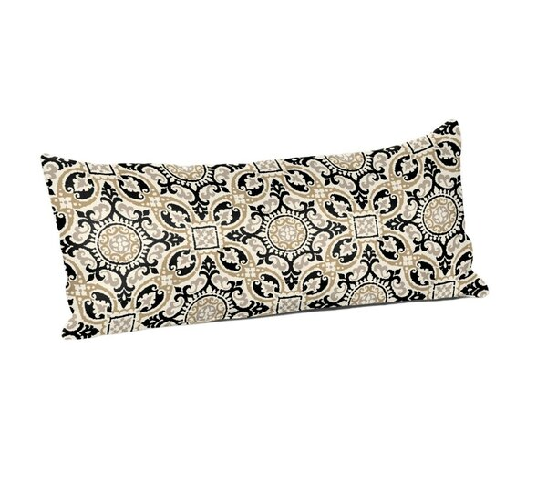 Haffner Mendoza Medallion Cobblestone Outdoor Lumbar Pillow by Charlton Home