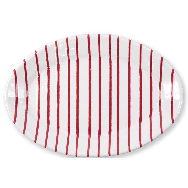 Stripe Oval Platter by VIETRI
