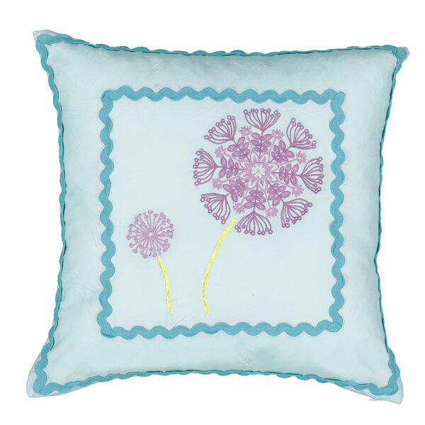 Hoo Dreams Kids Dandelion Embroidered Throw Pillow by Waverly