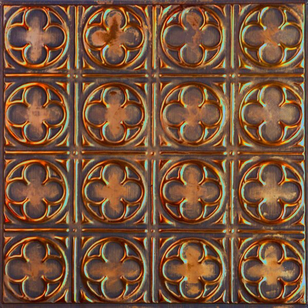 24 x 24 Metal Backsplash Panel Kit in Copper Brushed Bronze by American Tin Ceilings