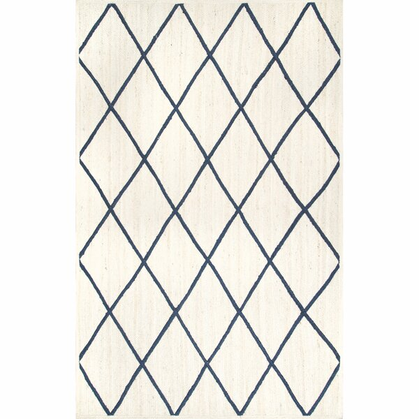 Gilley Hand-Knotted White Area Rug by Breakwater Bay