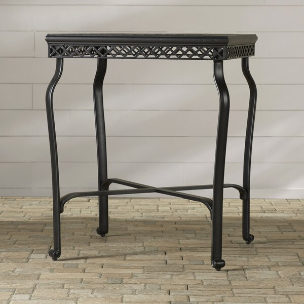 Nadine Metal Bistro Table by Fleur De Lis Living