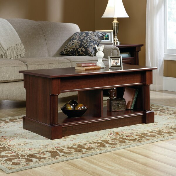 Raef Solid Wood Lift Top 4 Legs Coffee Table With Storage By Red Barrel Studio