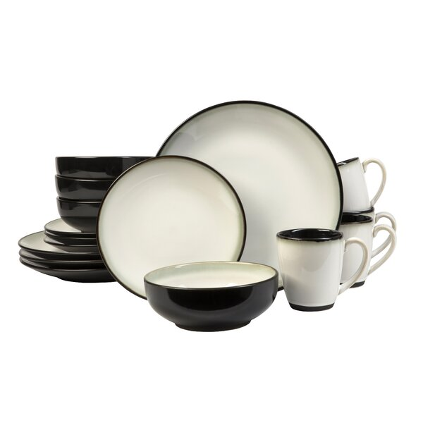 Nova 16 Piece Dinnerware Set, Service for 4 by Sango