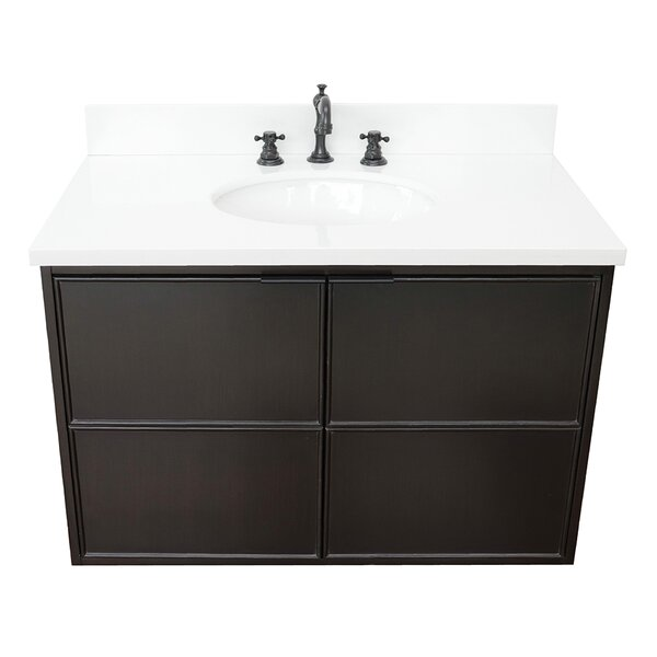 Elliston 37 Wall-Mounted Single Bathroom Vanity Set by Gracie Oaks
