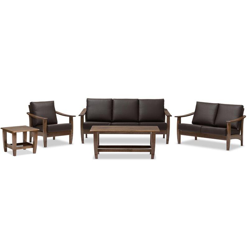 5 piece living room set. Ahart 5 Piece Living Room Set Latitude Run  Reviews Wayfair