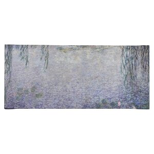 Water Lilies, Morning' by Claude Monet Framed on Canvas Gray by Andover Mills