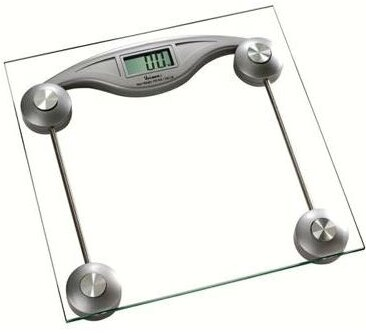 Square Glass Digital Electronic Bathroom Scale by Above Edge Inc.