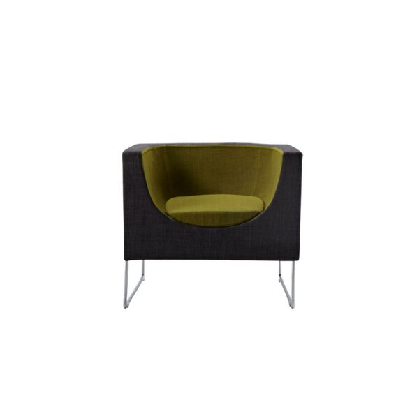 Louann Metal and Fabric Upholstered Barrel Chair by Corrigan Studio