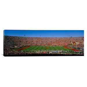 'Los Angeles Memorial Coliseum, California' Photographic Print on Canvas by East Urban Home