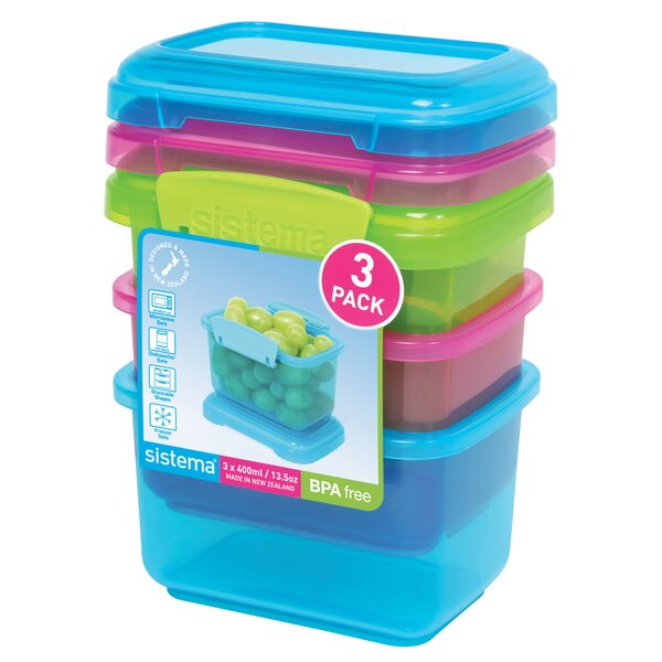 Snack Food Storage Container (Set of 3) by Sistema USA