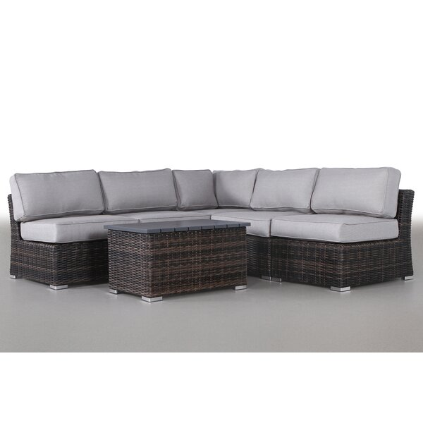 Dayse 6 Piece Sectional Seating Group with Cushions by Sol 72 Outdoor