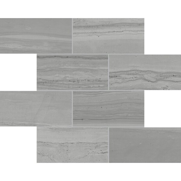 Travel Indian Ash 12 x 12 Porcelain Mosaic Tile in Gray by Lea Ceramiche