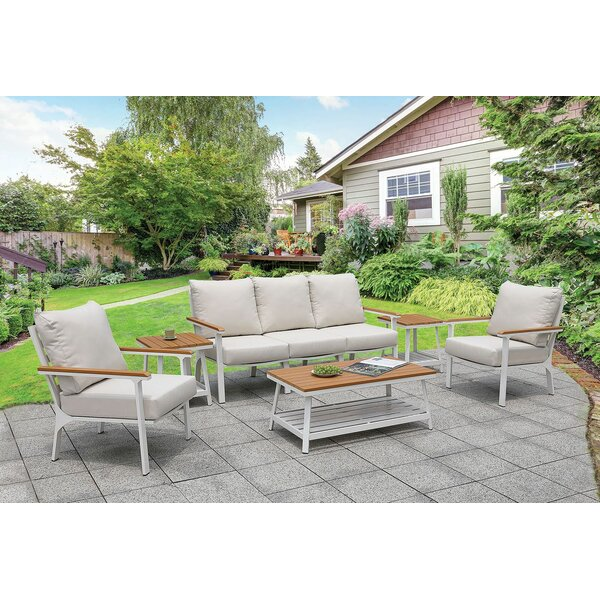 Abdullah 6 Piece Multiple Chair Seating Group with Cushions by Longshore Tides