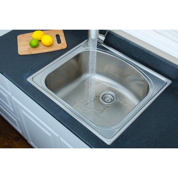 Chicago Series 25 L x 22 W D-shaped Topmount Kitchen Sink by Wells Sinkware