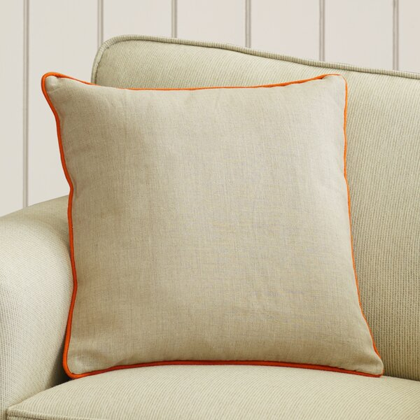 Franklin Linen Throw Pillow by Beachcrest Home