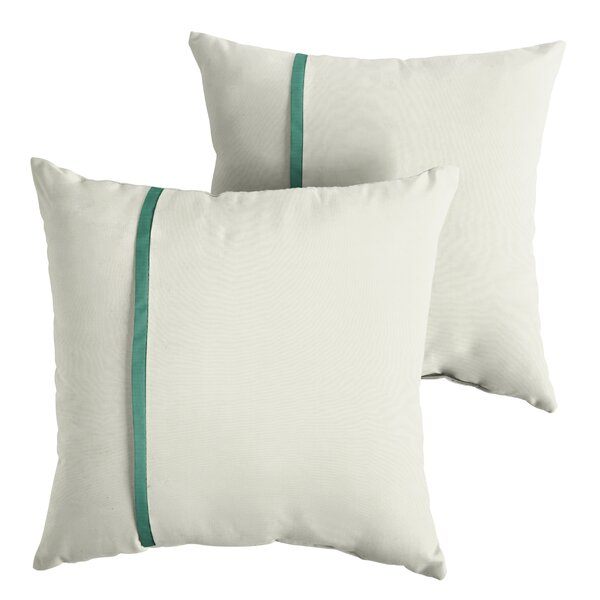Focht Indoor/Outdoor Sunbrella Throw Pillow (Set of 2) by Charlton Home