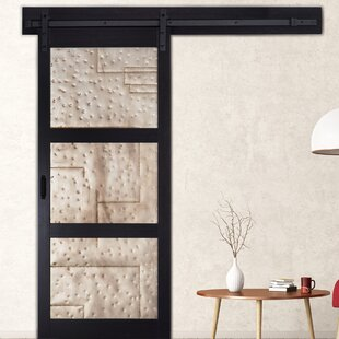 Solid MDF Room Dividers Metal Interior Barn Door