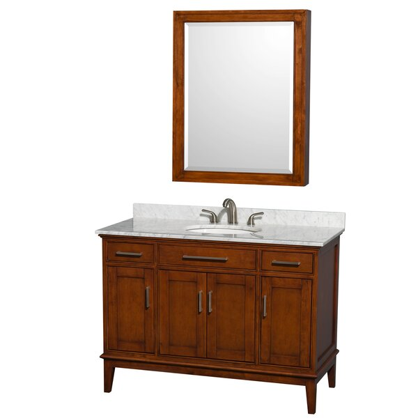 Hatton 48 Single Light Chestnut Bathroom Vanity Set with Medicine Cabinet by Wyndham Collection
