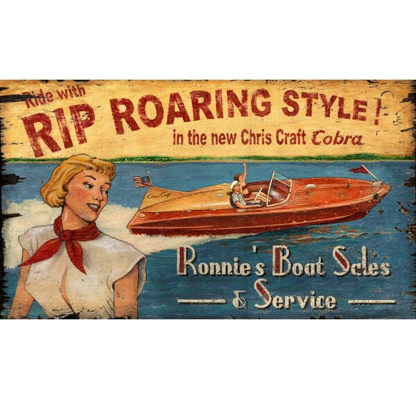 Chris Craft Vintage Advertisement Plaque by Highland Dunes