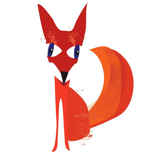 Darron Fox Stretched Canvas Art by Harriet Bee
