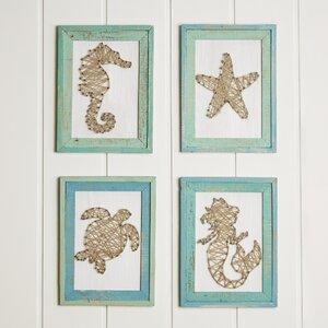 Framed Ocean String Art (Set of 4) by Birch Lane™